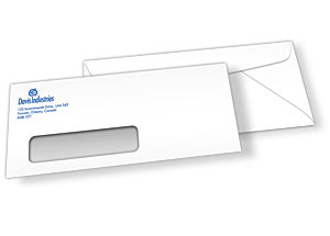 Envelope #9 with window, 1-sided Full Color Printing, 1,000 pcs
